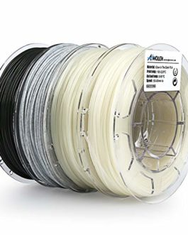 AMOLEN Imprimante 3D Filament PLA 1.75mm, Bronze, Marbre, Bois, Shining Or, 4x225g,+/- 0.03 mm Matériaux d'impression 3D en filament, comprend des échantillons de Filaments.