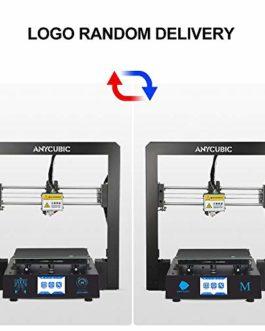ANYCUBIC 3D imprimante I3 Mega Full Metal avec breveté UltraBase et 3,5 Pouces écran Tactile Grande Taille d'Impression 210 x 210 x 205mm, Fonctionne avec PLA, ABS, Hips, Bois