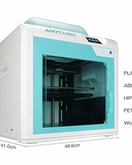 ANYCUBIC Imprimante 3D 4Max Pro Taille d'impression 270x205x205mm avec Plateau Chauffant UltraBase, entièrement assemblée, 1 Bobine de Filament 1kg Offerte, Fonctionne avec PLA/ABS