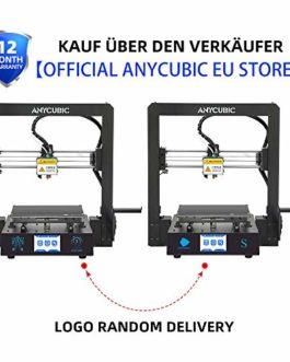 ANYCUBIC Mega-S Imprimante 3D avec cadre en métal massif et matelas chauffant Ultrabase 1,75 mm Filamente TPU, PLA, ABS