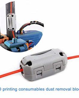 Abboard Filtres à Filament 1,75/3 mm Blocs nettoyants en Caoutchouc résistant aux Flammes pour PLA ABS PETG