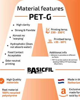 BASICFIL PET 1,75 mm | 500 gram | diverses couleurs