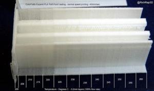 ColorFabb LW-PLA Filament plastique expansé expansible pour impression 3D – Partie 1 Test et expérimentation