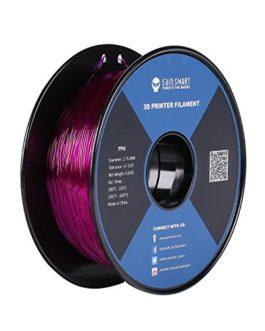 SainSmart Filament en TPU pour imprimante 3D 1,75 mm 0,8 kg De nombreuses couleurs au choix, lilas, 1