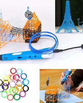 Filament de stylo d'impression 3D défini 10 couleurs Filament ABS de diamètre de 1,75 mm précis 10M ou 5M / Couleur Fournitures pour imprimante 3D (10 couleurs) Jasnyfall