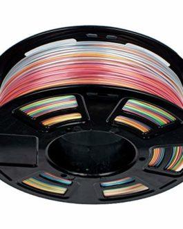 GEEETECH PLA filament 1.75mm Multicolor, 3d Printer Filament PLA 1KG Spool, Silky Rainbow color