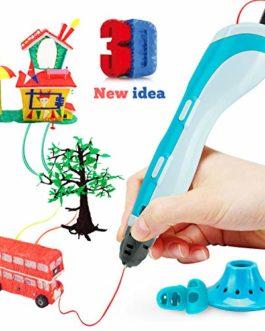 Gifort Stylo 3D d'Impression de Dessin 3D Pen Compatible avec l'ABS PLA, Arts et Métiers de Noël Kit Cadeau Enfants Jouet de Dessin créatif
