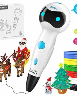 NULAXY Stylo 3D Stylos d'Impression 3D avec Invites vocales+Le Filament de PLA Recharge l'alimentation Automatique Compatible avec Filaments PLA ABS, Cadeau – Stylo 3D pour Enfant et Adulte