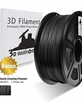 PLA Carbon Fiber, 3D Hero PLA Filament 1.75mm,PLA 3D Printer Filament, Dimensional Accuracy +/- 0.02 mm, 2.2 LBS(1KG),1.75mm Filament, Bonus with 5M PCL Nozzle Cleaning Filament