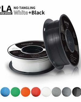 PLA Filament 1.75mm, ERYONE Filament PLA 1.75mm, 3D Printing Filament PLA for 3D printer, 2kg 2 Spools