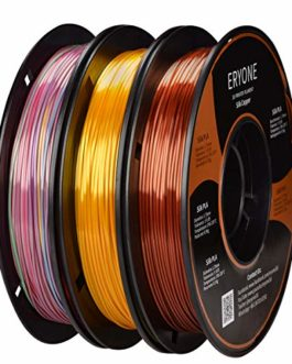 PLA Filament 1.75mm Silk Filament, Eyone Silky Shiny Filament PLA 1.75mm, 3D Printing Filament PLA for 3D Printer and 3D Pen, 1kg 1 Spool