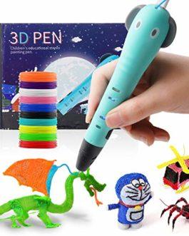Red Bomb Stylo d'impression 3D, Stylo 3D Compatible avec Le Filament ABS/PAL, Câble USB, 10 Couleurs, Stylo de Dessin 3D D'éléphant de Bébé pour Enfants, Adultes, Amateurs de Bricolage