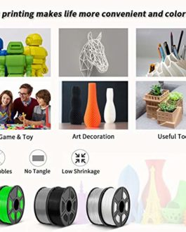 Enotepad PLA Plus 3D Printer Filament, 1.75mm PLA Plus Filament, Dimensional Accuracy +/- 0.02mm,Soft & Non-toxic Material, Enotepad PETG