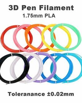 Stylo 3D Fede avec Écran LCD, Stylo d'impression 3D avec 12 * 3.3M Multicolores Filament PLA de 1.75 mm (39.6 Mètres au Total), Compatible avec PLA/ABS, pour Enfants, Adultes
