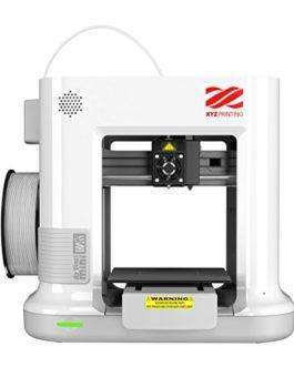 XYZ PRINTING 3FM3WXEU00C – Imprimante 3D Da Vinci MINI W+ – Blanche – L'impression 3D rendue facile – Câble USB 2.0 – WiFi