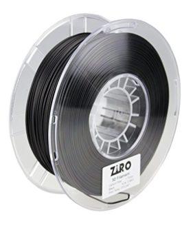 Ziro Fibre de carbone imprimante 3d Filament PLA 1.75mm 0.8kg Bobine de fil–Noir