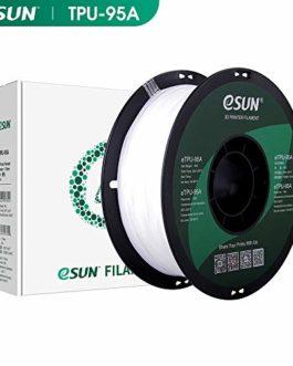 eSUN Imprimante 3D Filament TPU Flexible, TPU Filament 1.75mm, Précision Dimensionnelle +/- 0.05mm, 2.2 LBS (1KG) Bobine, Filament d'impression 3D pour Imprimantes 3D et Stylos 3D
