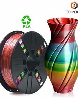 PLA Filament 1.75mm Rainbow Multicolor, ERYONE Multicolor Filament PLA 1.75mm,Lagoon Rainbow PLA, Steampunk Rainbow PLA 3D Printing Filament PLA for 3D Printer and 3D Pen, 1kg 1 Spool