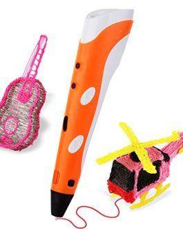 SOYAN 3D Arts & Dessin de techlonogie Impression en 3D stylo griffonner stylo d'imprimeur avec gratuit 30G ABS Filament (Bleu / Jaune / Orange / Gris)