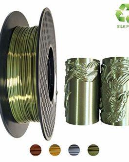 KEHUASHINA Filament de PLA d'imprimante 3D, 1.75mm, matériel d'impression 3D, filament de bobine de 2.2 LBS (1KG) pour des imprimeurs 3D, PLA de SILK