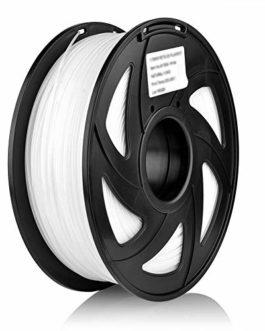 S SIENOC 1,75 mm 3D Printer imprimeur Composite HIPS Filament 1KG Bobine de fil plastique (HIPS Blanc)