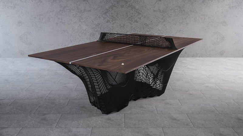 Stelios Mousarris 3D imprime une table de ping-pong en forme de montagne