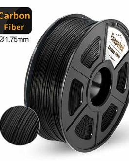 Filament Imprimante 3D Fibre Carbone, PLA Filament Fibre Carbone 1,75 mm, Filament Imprimante 3D Extrêmement Rigide, 1 kg (2,2 lb) Noir