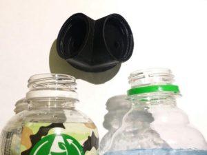 Douche oculaire simple qui peut être montée sur de l'eau en bouteille