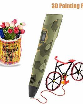 KKmoon Stylos de peinture à haute température 3D Graffiti du stylo d'impression intelligent 3D d'affichage numérique avec câble USB