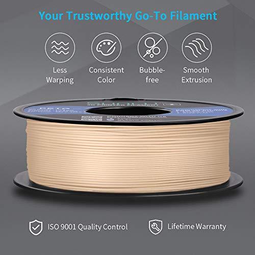 2.2 LBS Spool 3D Printing Filament Low Odor 1.75mm PLA Wood Filament Wood 1KG SUNLU 3D Printer Filament PLA Dimensional Accuracy +//- 0.02 mm