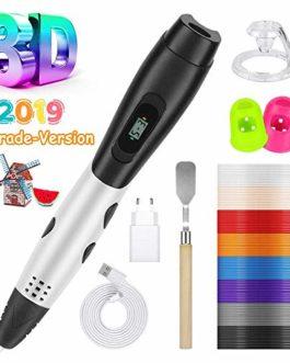 Vegena Stylo 3D Professionnel avec Écran LCD, Stylo d'impression 3D avec 16 Multicolores Filament PLA Φ1,75 mm, Stylo 3D pour L'artisanat et Loisirs Créatifs, Enfant, Adulte, Débutant