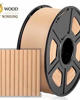 Filament Bois PLA 1,75 mm, 1 kg, Enroulement Amélioré,Sans Enchevêtrement,Bois