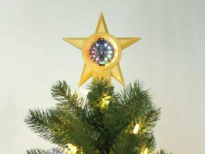 Circuit Playground Star Tree Topper via @BlitzCityDIY