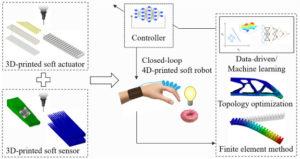 La fabrication robotique au niveau supérieur avec la robotique douce imprimée 4D