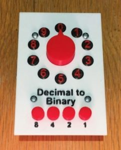 Encodeur binaire principalement imprimé en 3D