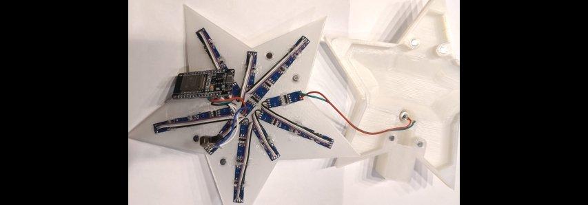 Un topper d'arbre utilisant une LED ESP32 et Adafruit DotStar