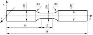 Alliage de titane Ti6A14V: test d'échantillons imprimés en 3D DMLS sous charge statique