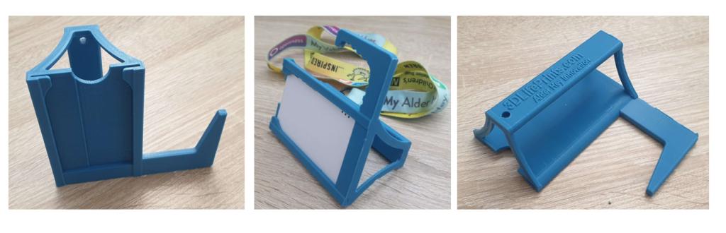 Impression 3D pour COVID-19: badge d'identification / ouvre-porte de 3D LifePrints UK