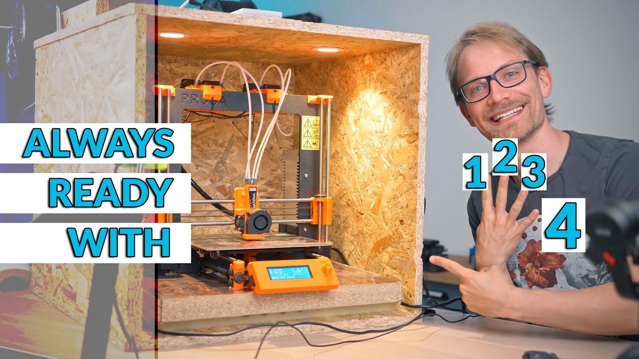 Démarrer des impressions 3D sans me lever de mon bureau – choisissez parmi 4 filaments en un clic!