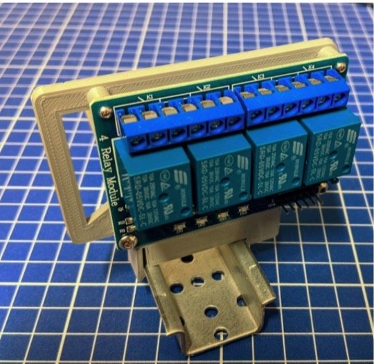 Support de relais sur rail DIN 4 canaux