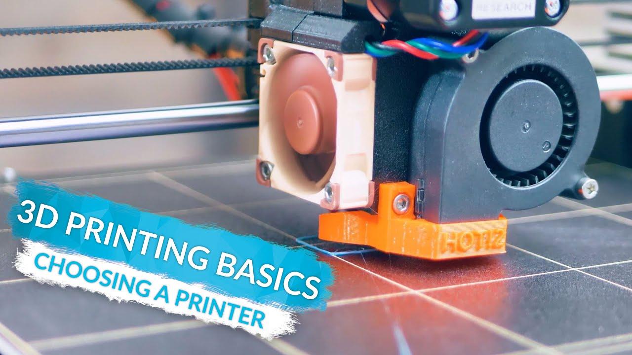 Notions de base de l'impression 3D – Choix d'une imprimante