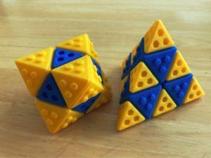 Octaèdre et tétraèdre Lego