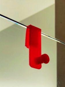 Crochet de douche imprimé en 3D