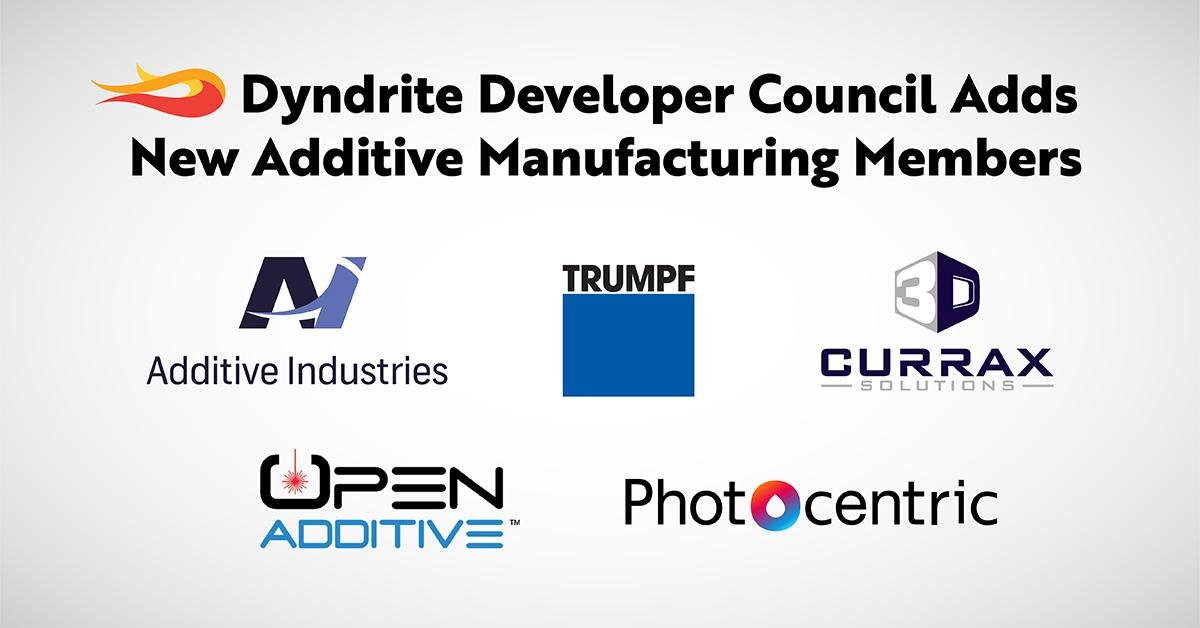Dyndrite ajoute Trumpf, Additive Industries, d'autres au groupe de développeurs d'impression 3D