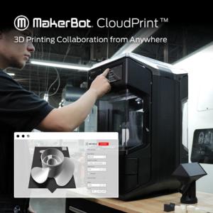 Le logiciel MakerBot CloudPrint rend l'impression 3D à distance et collaborative transparente