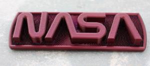 Plaque du logo du ver de la NASA