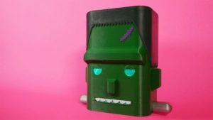 NOUVEAU GUIDE : Monstre Frankenstein imprimé en 3D avec des yeux NeoPixel #QTPy #AdafruitLearningSystem #NeoPixels #Adafruit @Adafruit
