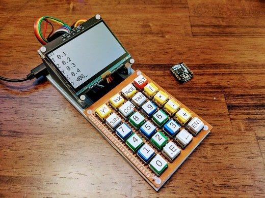 NOUVEAU GUIDE : Calculatrice RPN de bureau à faire soi-même avec @Adafruit @CircuitPython #CircuitPython #AdafruitLearnSystem