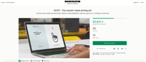 Read more about the article La campagne Kickstarter apporte une aide à l'écriture imprimée en 3D aux enfants handicapés