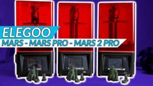 Elegoo Mars vs Mars Pro vs Mars 2 Pro